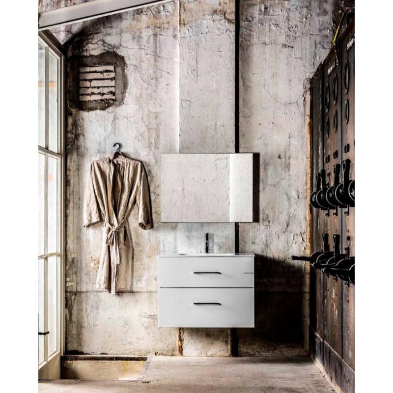 Mueble de baño 60 cm serie More 2 cajones Talc Mondial Bathroom