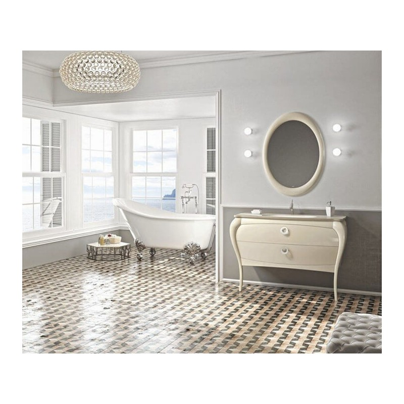Mueble de baño 125 cm serie Paulina 06 MiBaño
