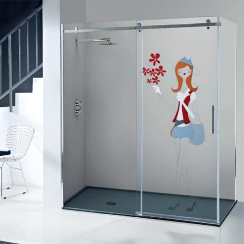 Mampara de ducha corredera Iris Kabinglass