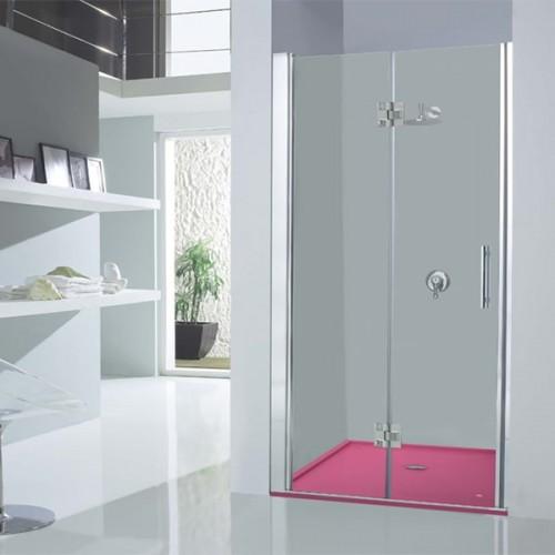 Mampara de ducha Kabinglass abatible serie Sión modelo Nabora