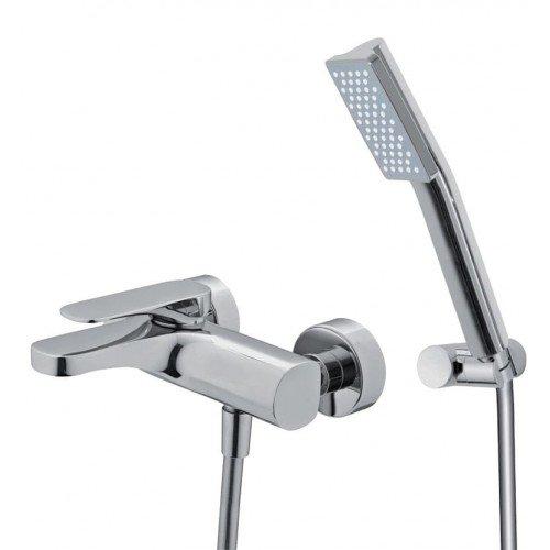Mezclador Fima Carlo Frattini para bañera con set de ducha serie Quad