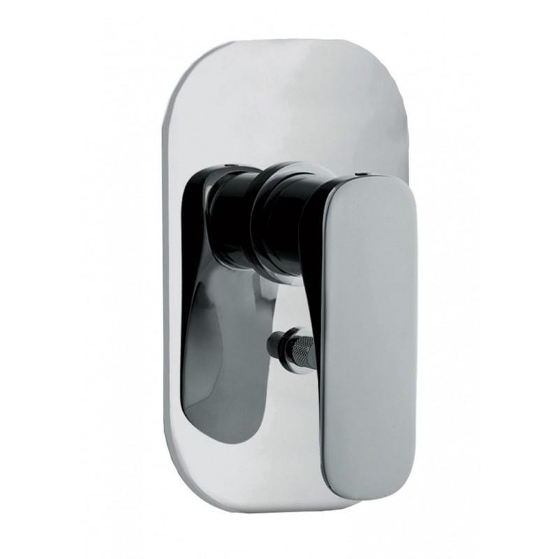 Mezclador empotrado para bañera con desviador 2 salidas