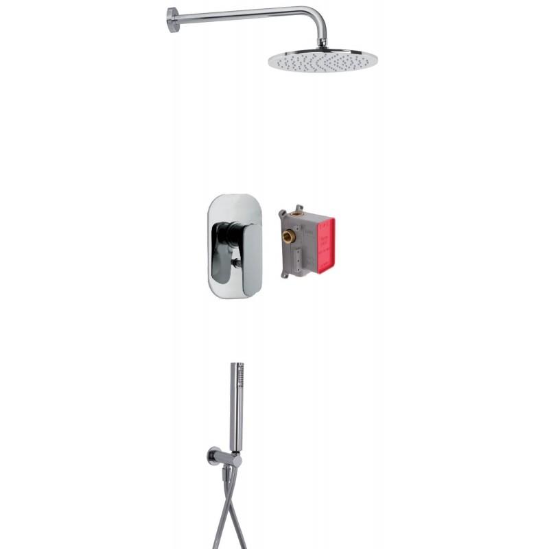 Conjunto para ducha con 2 salidas serie Quad