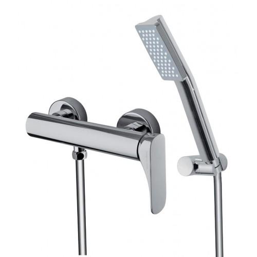 Mezclador Fima Carlo Frattini para ducha con set de ducha serie Quad