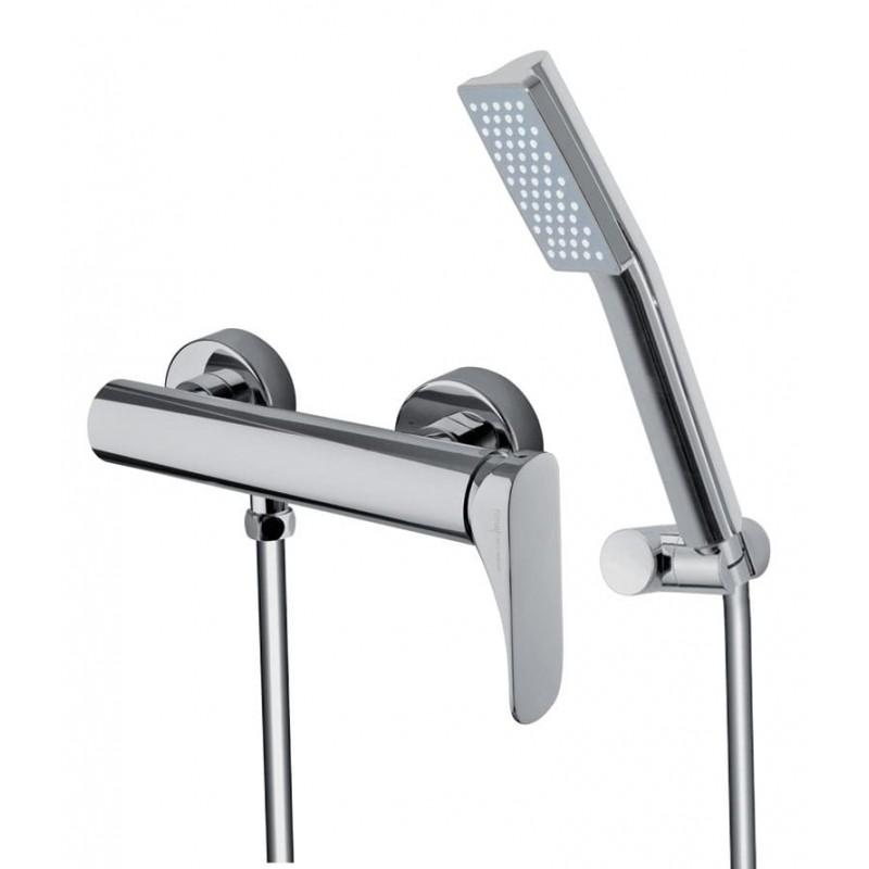 Grifo mezclador para ducha con set de ducha serie Quad