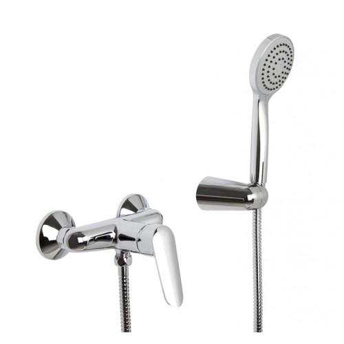 Mezclador Fima Carlo Frattini para ducha con set de ducha serie Spot