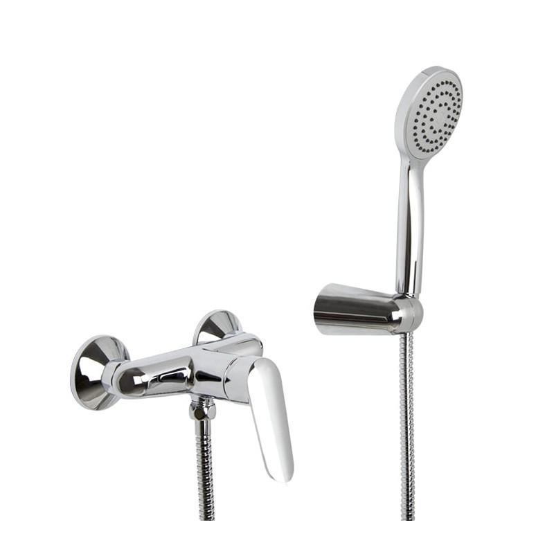 Grifo mezclador para ducha con set de ducha serie Spot