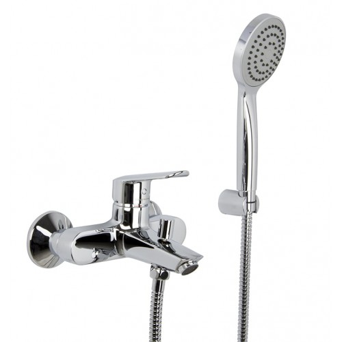 Mezclador Fima Carlo Frattini para bañera con set de ducha serie Spot