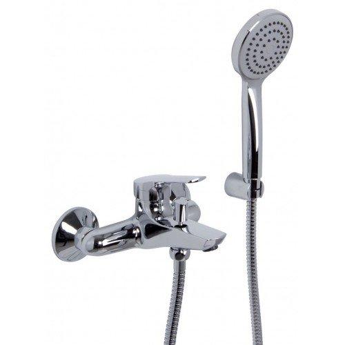 Mezclador Fima Carlo Frattini para bañera con set de ducha Serie 4