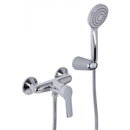 Mezclador Fima Carlo Frattini para ducha con set de ducha Serie 4