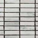 Mosaico Rectangular Engraved Stone Bianco Carrara - MALLA