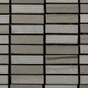 Mosaico Rectangular Engraved Stone Wooden Moca - MALLA
