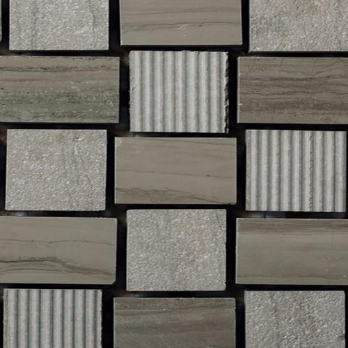 Mosaico Cuadrado Engraved Stone Wooden Moca -MALLA