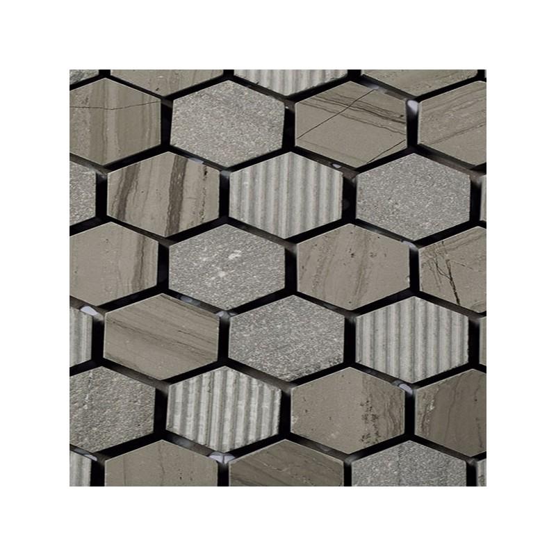 Mosaico Hexagonal Piedra Grabada Moca