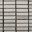 Mosaico Rectangular Engraved Stone Wooden White - MALLA