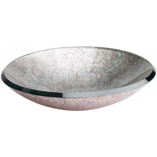 Lavabo de Cristal Redondo Silver