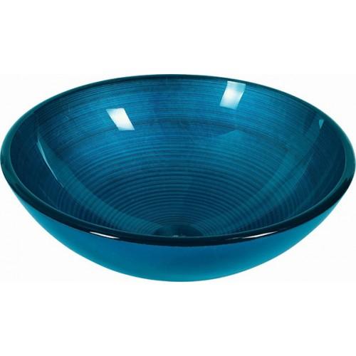 Lavabo de Cristal Redondo Agadir Blue