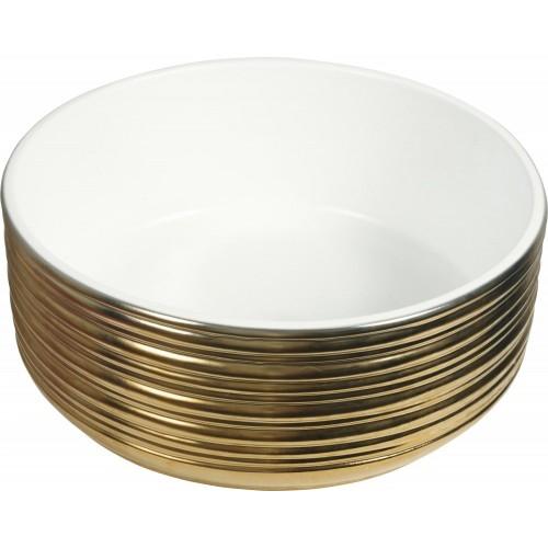 Lavabo de Porcelana Redondo Kayan Oro
