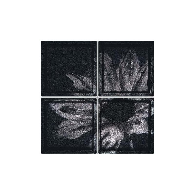 Composición de 4 bloques de vidrio Black Desy