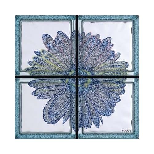 Composición de 4 bloques de vidrio Omaggio a Andy Warhol - Margherita Blu