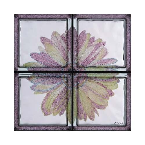 Composición de 4 bloques de vidrio Omaggio a Andy Warhol - Margherita Rosa