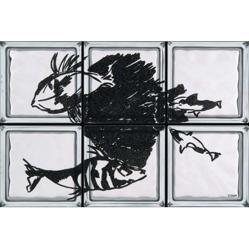 Composición de 6 bloques de vidrio Cala Azzurra