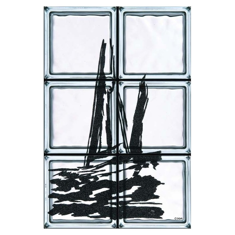 Composición de 6 bloques de vidrio Sailing