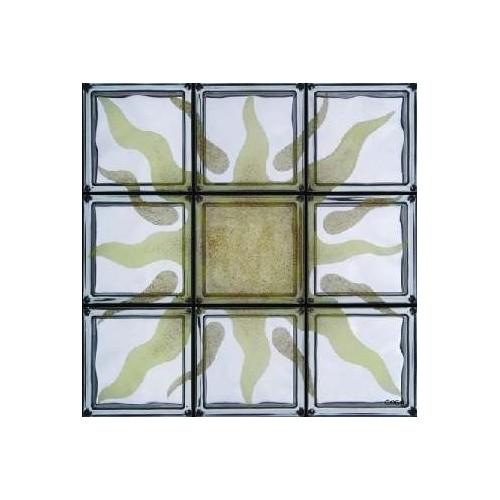Composición de 9 bloques de vidrio Sicilia