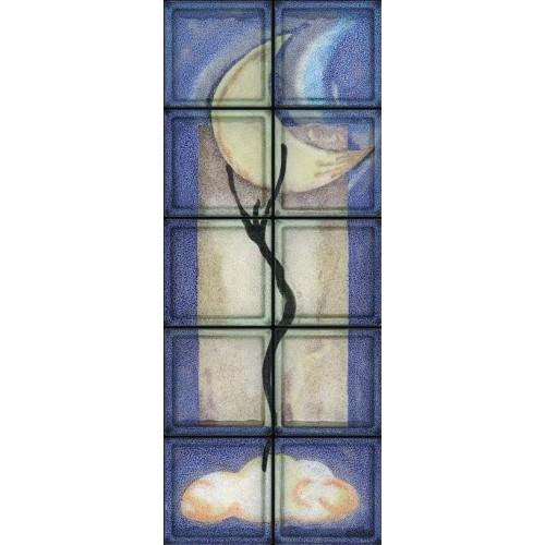 Composición de 10 bloques de vidrio Moon Dance