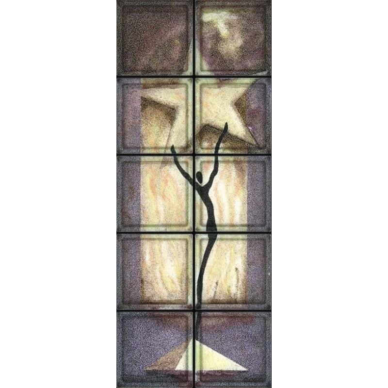 Composición de 10 bloques de vidrio Star Dance