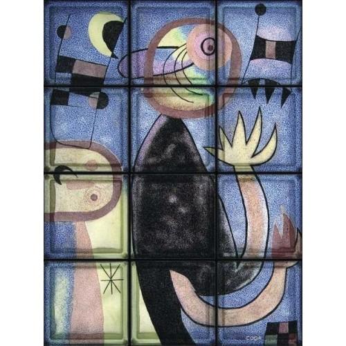"Omaggio a Miro ""Animal Composition"" de 12 Bloques"