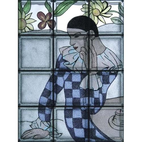 """Omaggio a Picasso """"Arlecchino Pensoso"""" de 12 Bloques"""