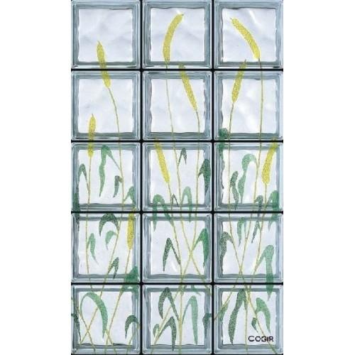 Composición de 15 bloques de vidrio Canne al Vento