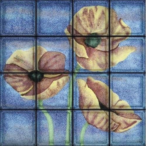 Composición de 16 bloques de vidrio Ete