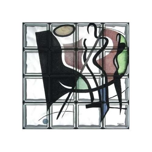 """Composición de 16 bloques de vidrio Omaggio a Gockel """"Boogie Woogie"""""""