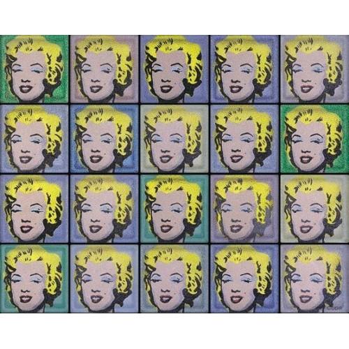 """Omaggio a Andy Warhol """"Marylin"""" de 20 Bloques"""