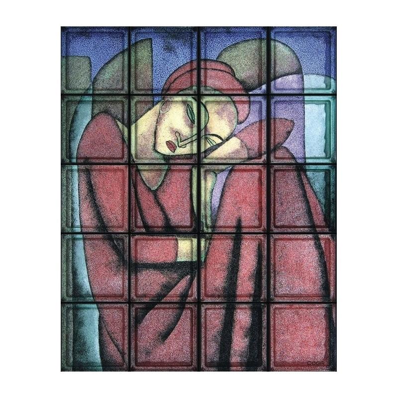 Composición de 20 bloques de vidrio Sognando