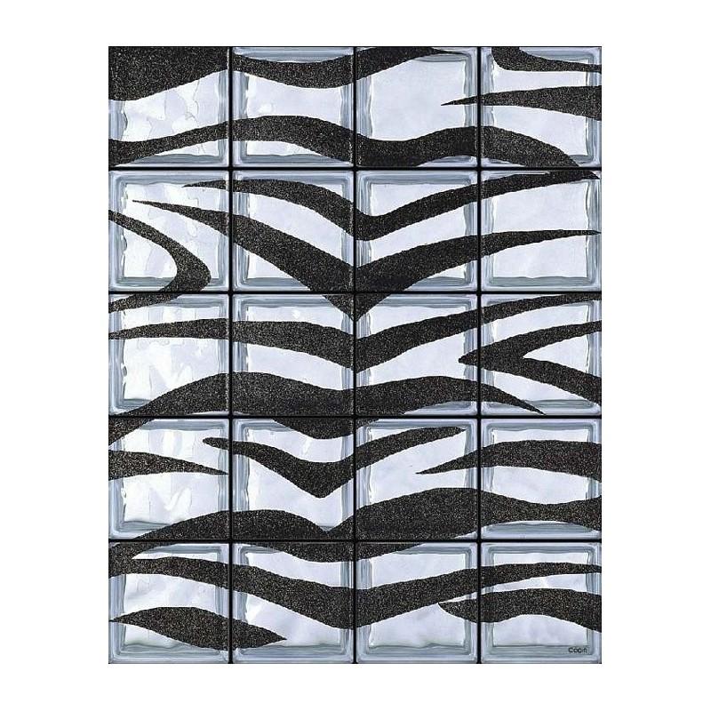 Composición de 20 bloques de vidrio Zebrato
