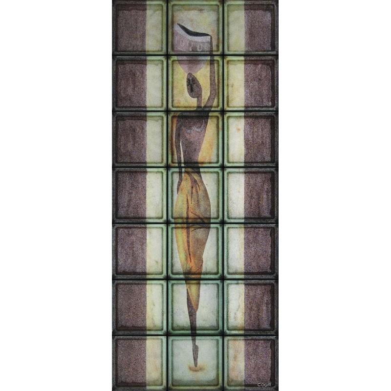 Composición de 21 bloques de vidrio Acquaiola