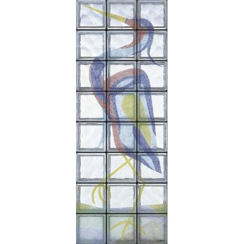 Composición de 24 bloques de vidrio Airone