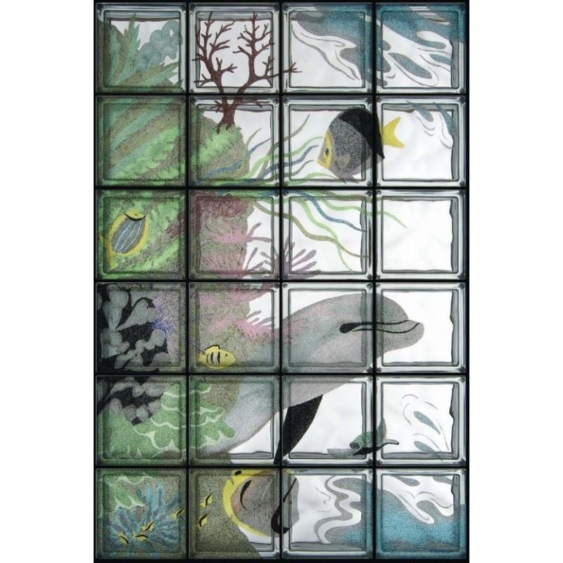 Composición de 24 bloques de vidrio Barriera Corallina