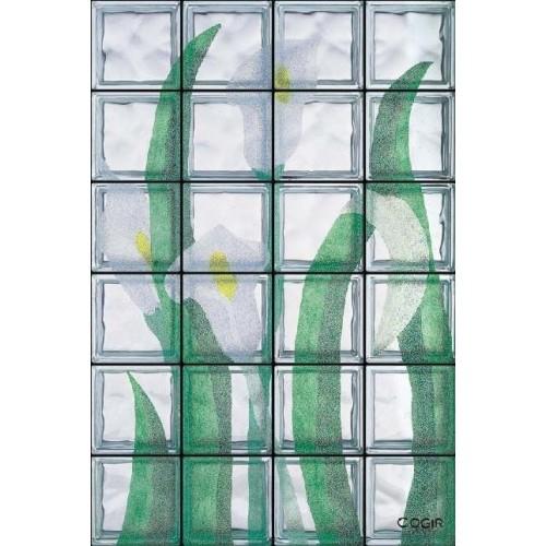 Composición de 24 bloques de vidrio Calle