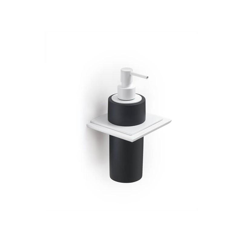 Soporte de pared con dosificador de jabón blanco serie Absolute Regia Domovari