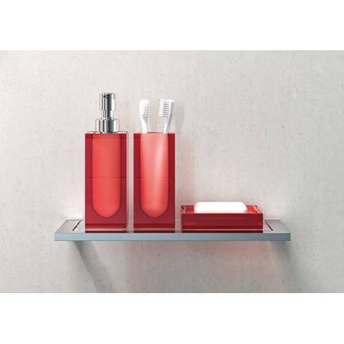 Conjunto de baño de 4 piezas rojo Regia Domovari serie Metropolitan