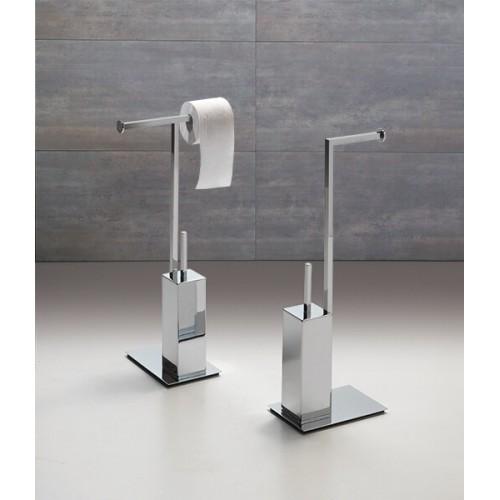 Escobillero cuadrado de pie con portarrollos Regia Domovari serie Mondrian