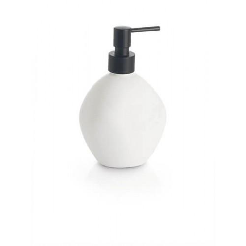 Dosificador de jabón blanco mate Regia Domovari serie Pietra