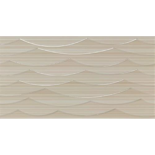 Revestimiento Habitat serie City Waves Beige de 31.6x95.3cm