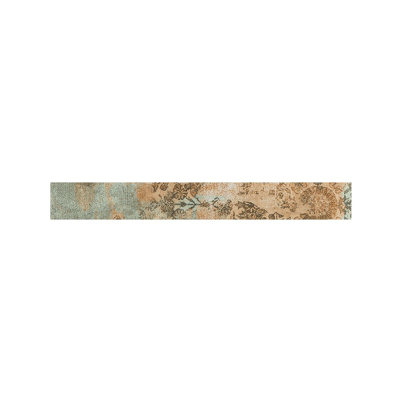 Rodapié Habitat serie Bagdad Green de 7.3x59.2cm