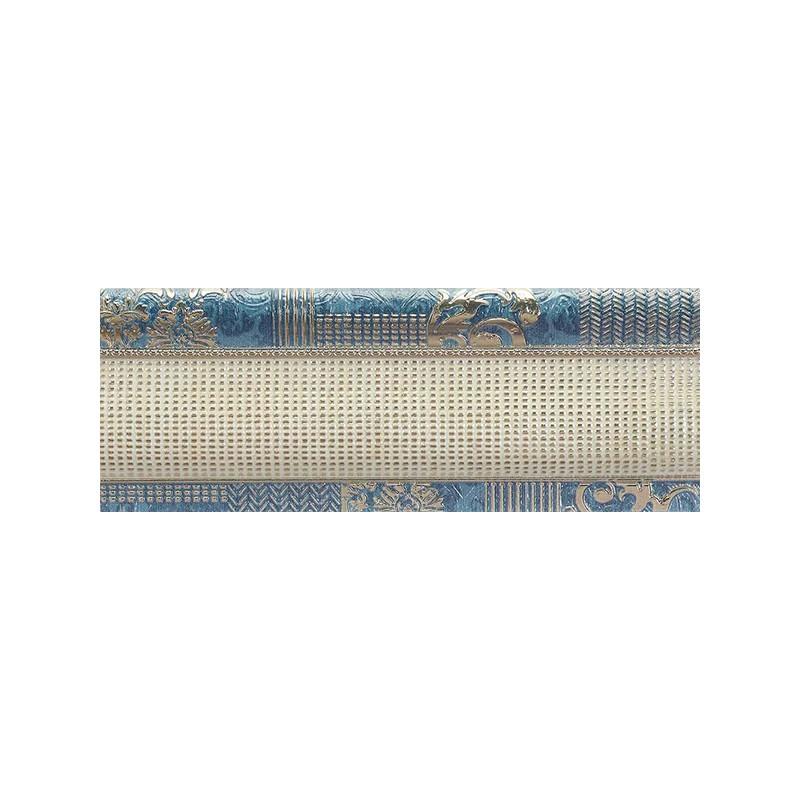 Cenefa Habitat serie Sumeria Blue de 12x31.6cm