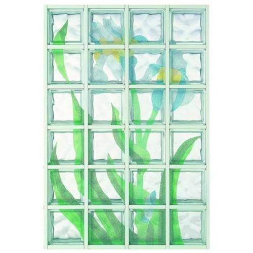 Composición de 24 bloques de vidrio Iris